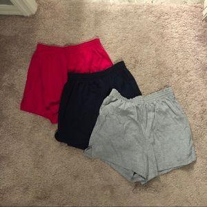 Set of 3 Soffe shorts